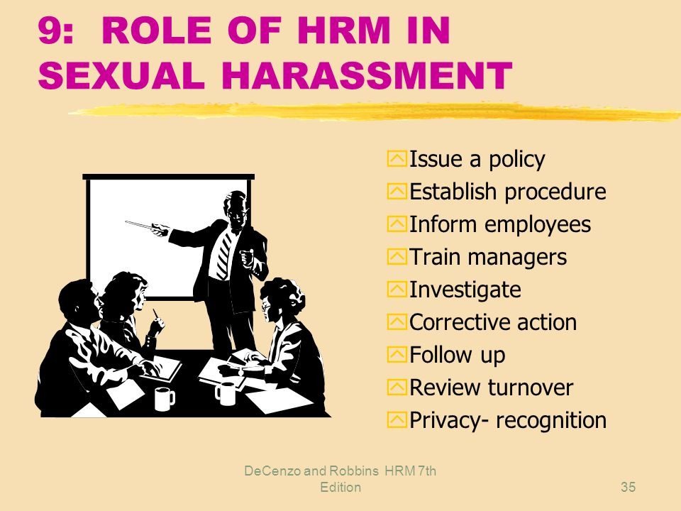 9: ROLE OF HRM IN SEXUAL HARASSMENT