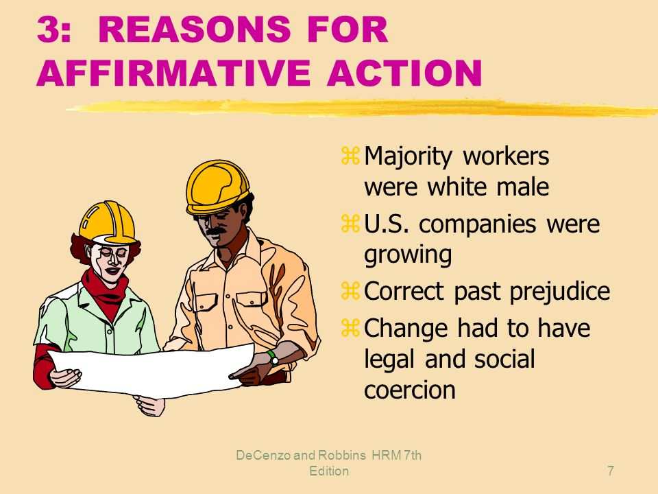 3: REASONS FOR AFFIRMATIVE ACTION