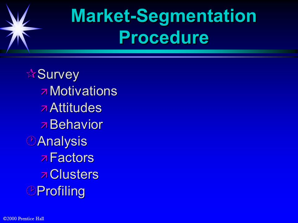 Market-Segmentation Procedure