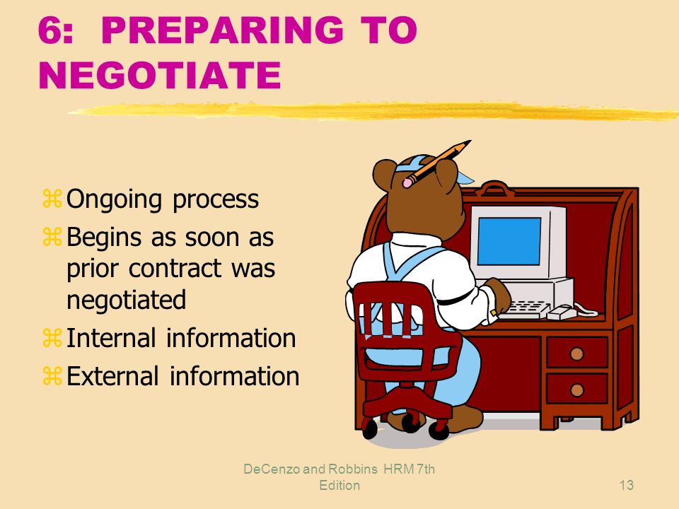 6: PREPARING TO NEGOTIATE