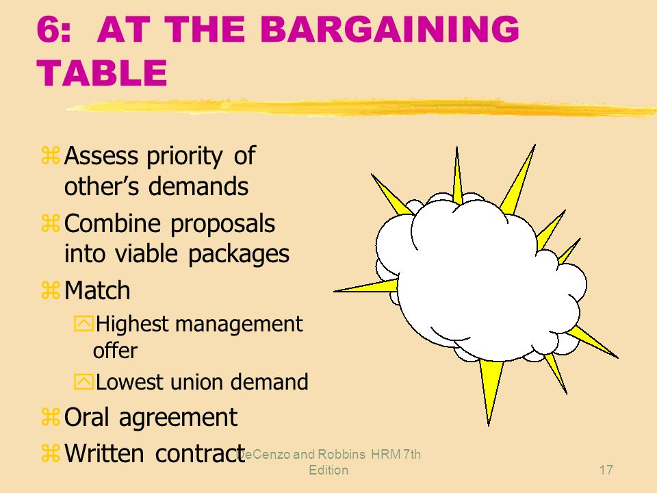 6: AT THE BARGAINING TABLE