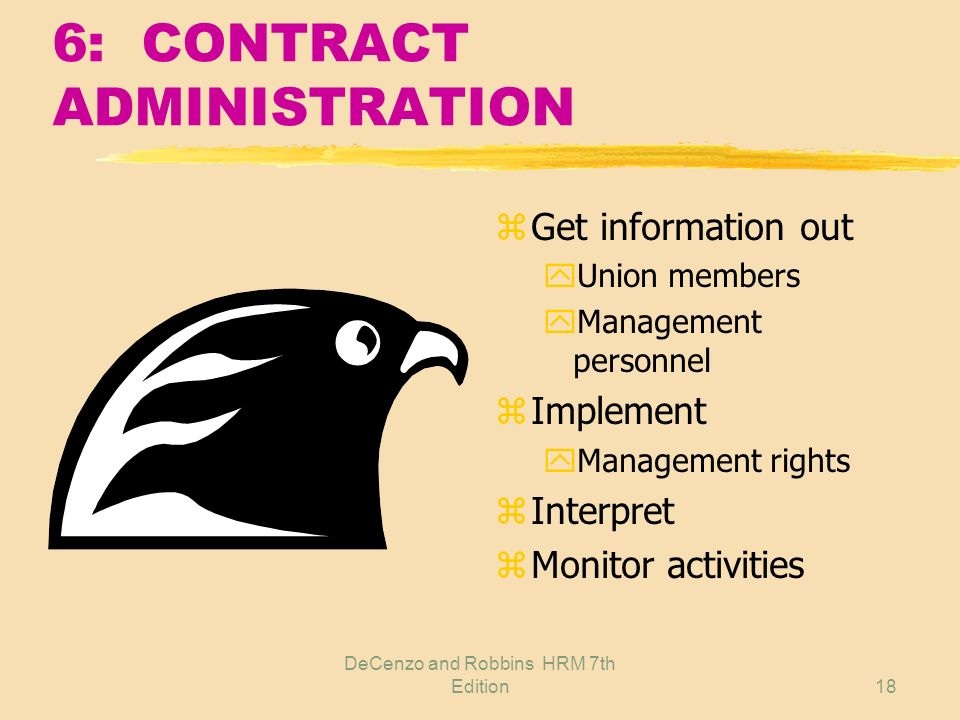 6: CONTRACT ADMINISTRATION