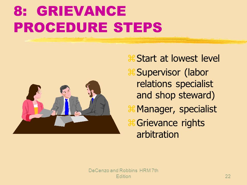 8: GRIEVANCE PROCEDURE STEPS
