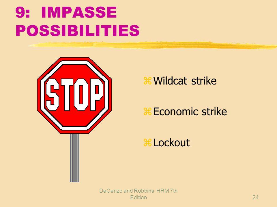 9: IMPASSE POSSIBILITIES