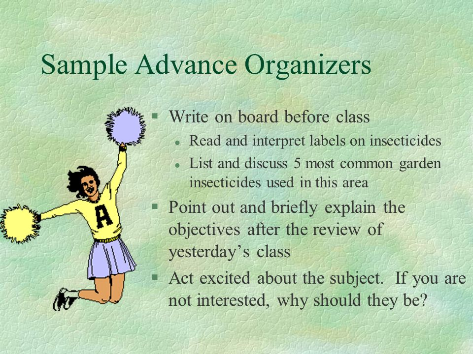 Sample Advance Organizers