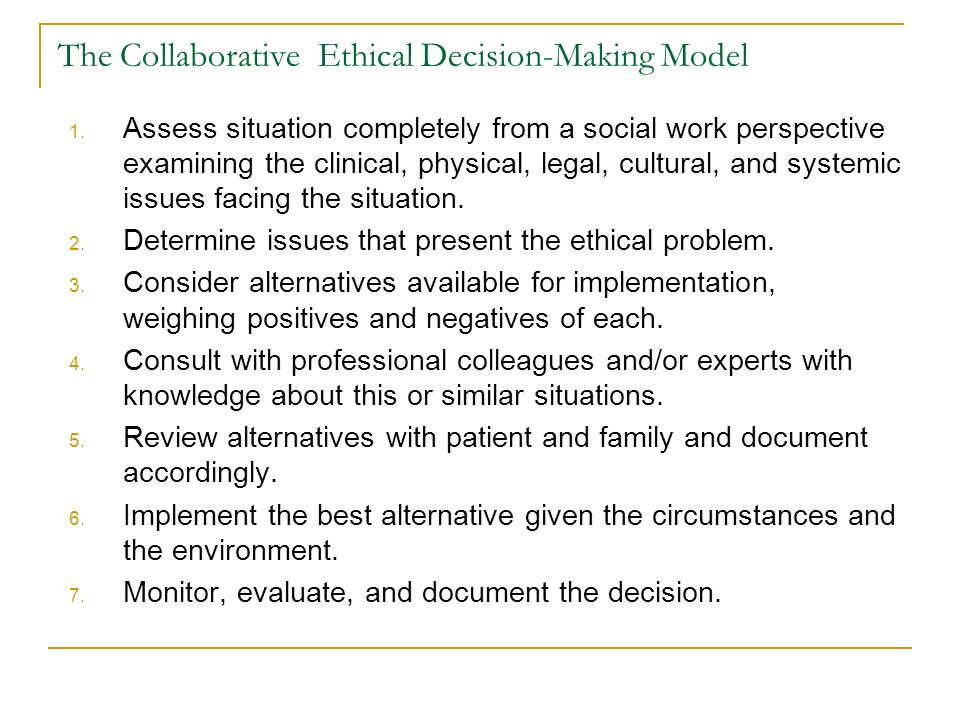 social constructionism ethical decision making model Deontology, or duty ethics, helps eliminate bias in decision-making by holding decisions to standards, or principles, that have universal acceptance of as right and good in an effort to incorporate a deontological approach to decision-making, bowen created a practical model for pr professionals ( journal of public relations research, 2005.