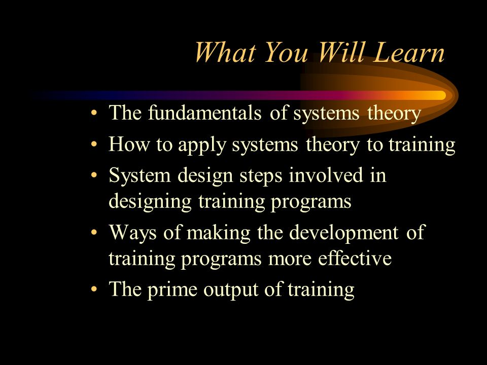 What You Will Learn The fundamentals of systems theory