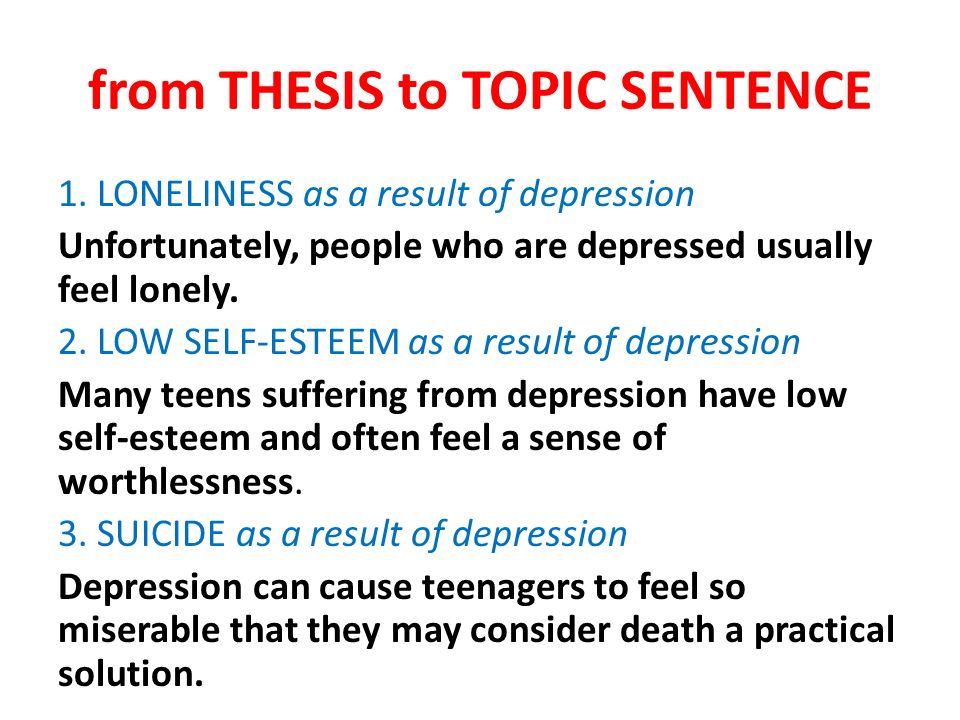 Essay about depression of teenagers