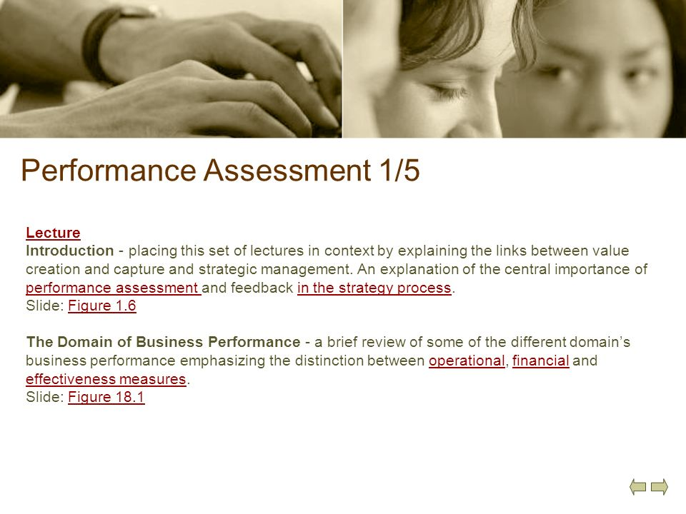 Performance Assessment 1/5
