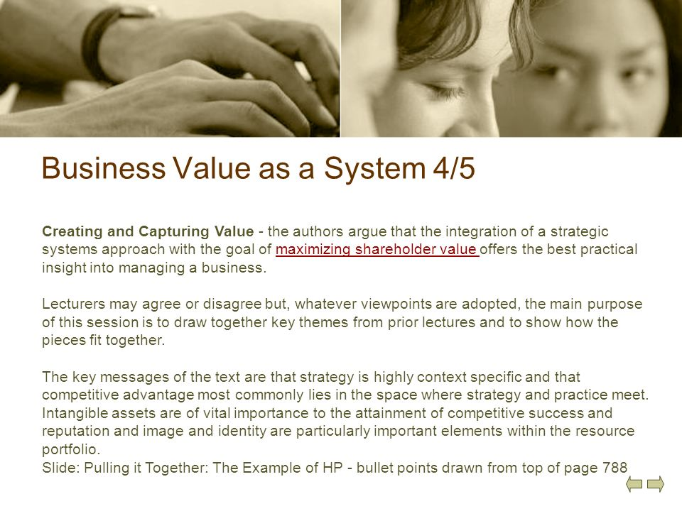 Business Value as a System 4/5