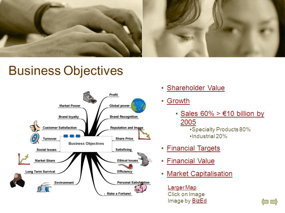 Business Objectives Shareholder Value Growth