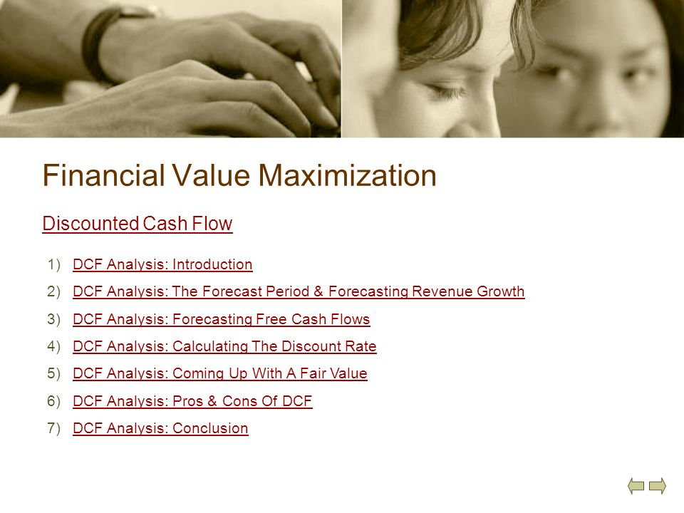 Financial Value Maximization