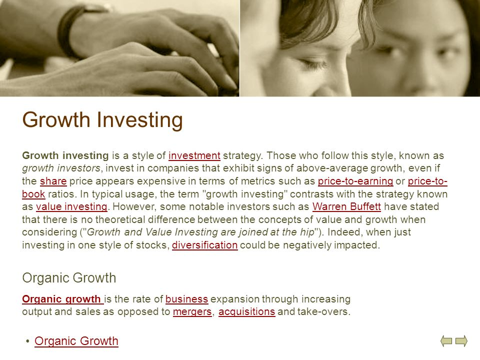 Growth Investing Organic Growth Organic Growth