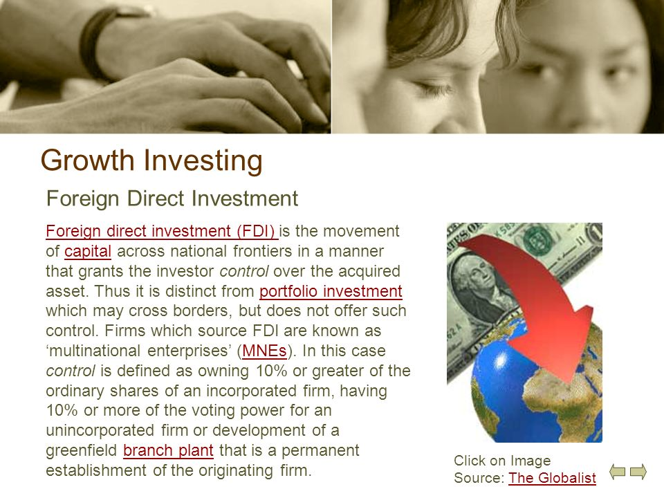 Growth Investing Foreign Direct Investment