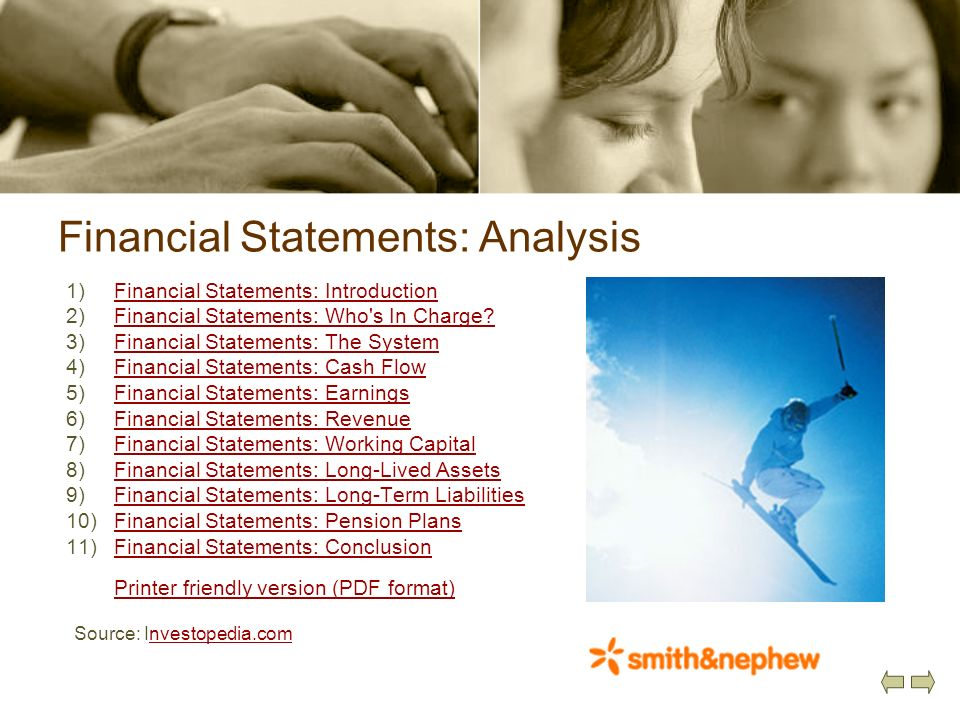 Financial Statements: Analysis