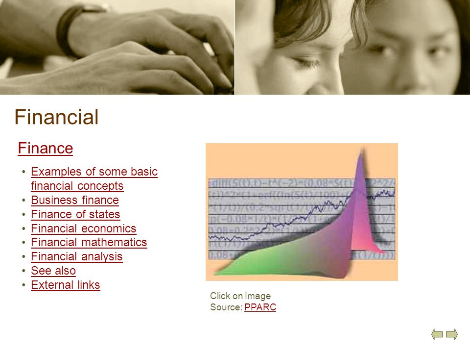 Financial Finance Examples of some basic financial concepts