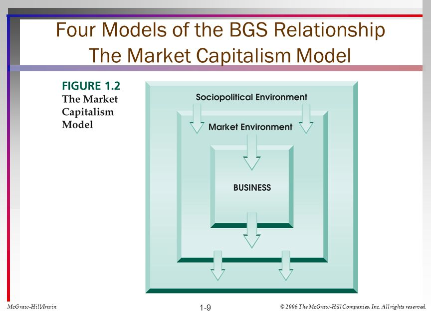 Four Models of the BGS Relationship The Market Capitalism Model