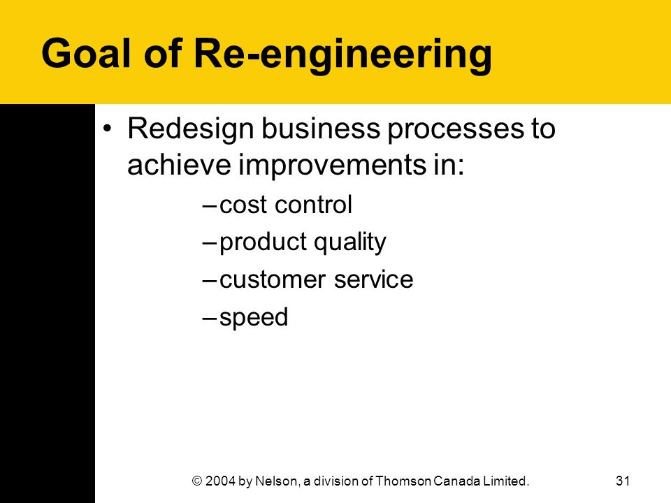 Goal of Re-engineering