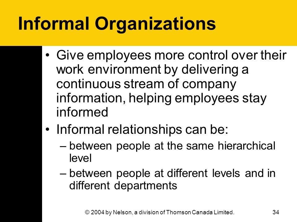 Informal Organizations