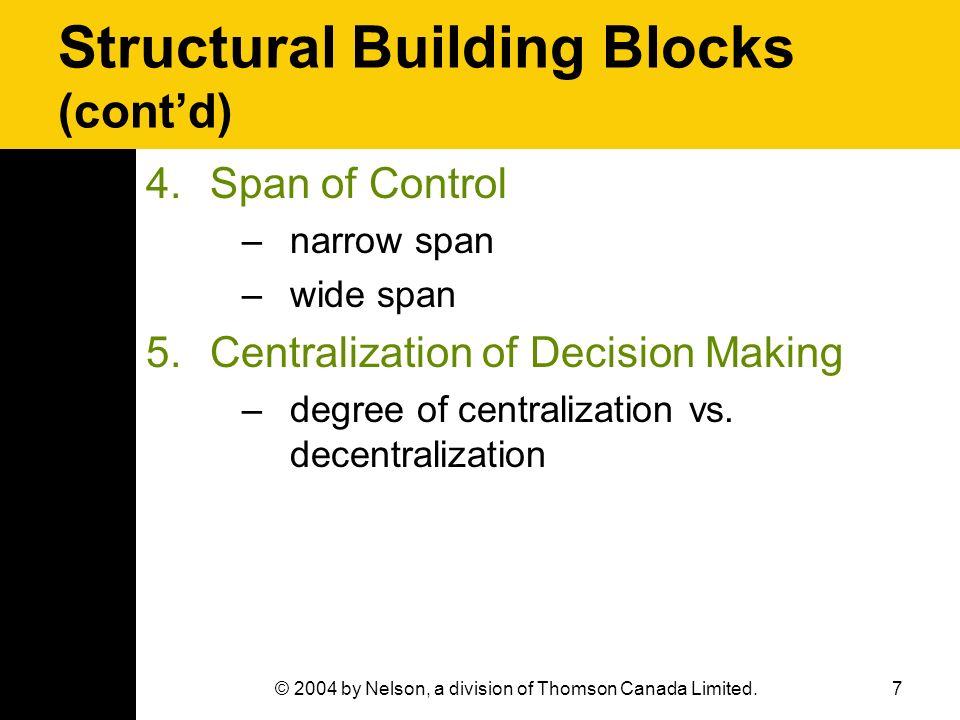 Structural Building Blocks (cont'd)