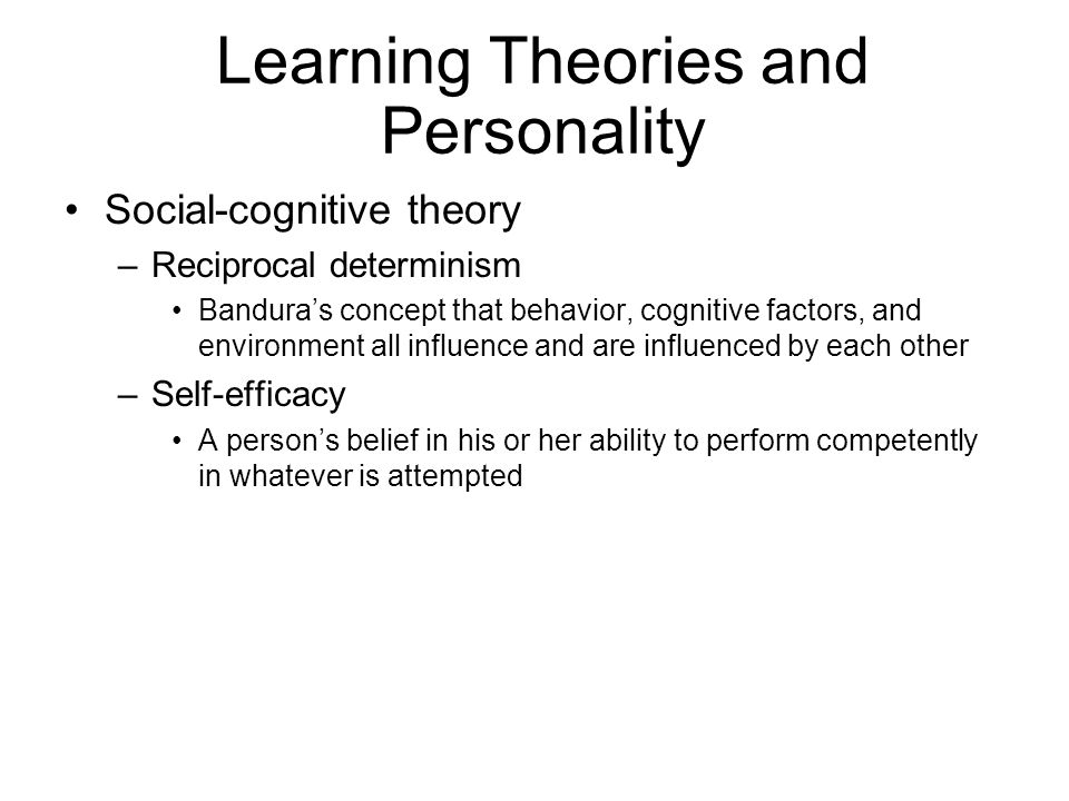 learning personality theories Free personality theories papers, essays, and research papers.