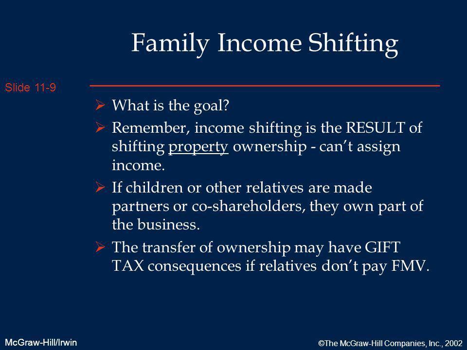 Family Income Shifting