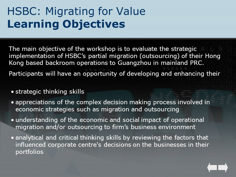 HSBC: Migrating for Value Learning Objectives
