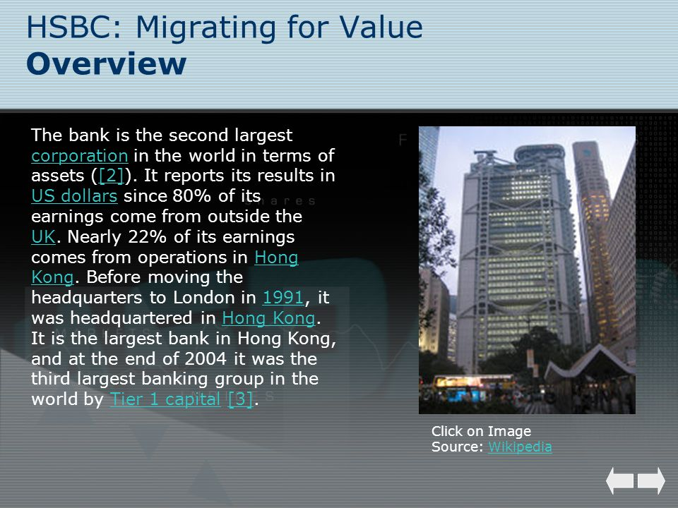HSBC: Migrating for Value Overview