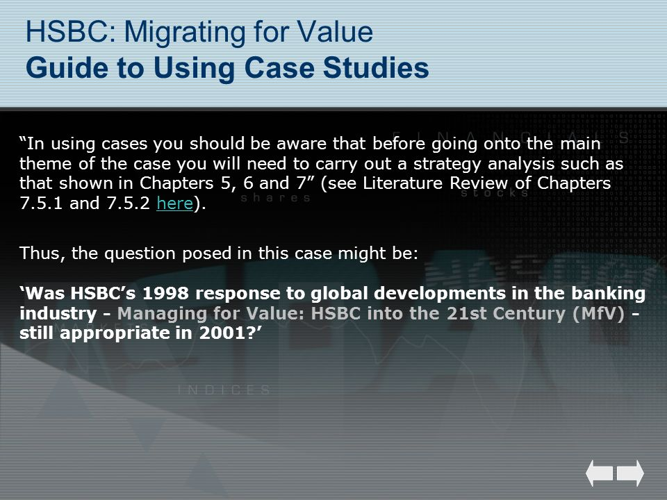HSBC: Migrating for Value Guide to Using Case Studies