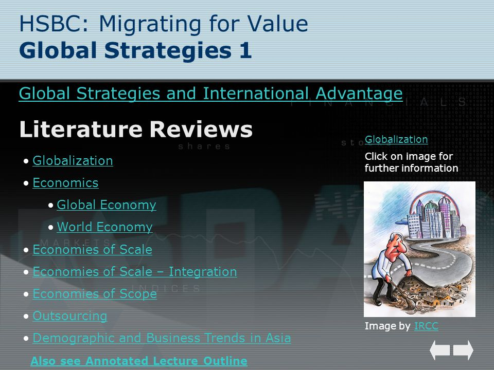 HSBC: Migrating for Value Global Strategies 1