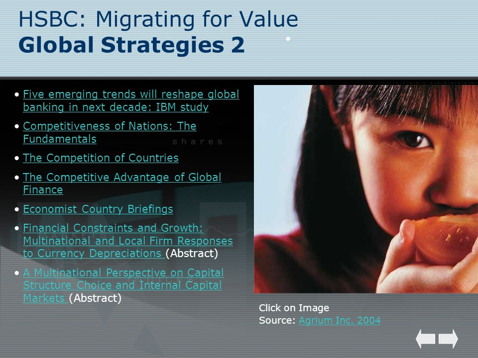 HSBC: Migrating for Value Global Strategies 2