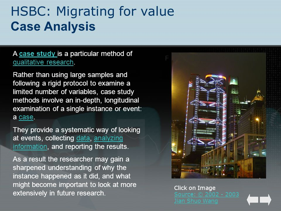 HSBC: Migrating for value Case Analysis