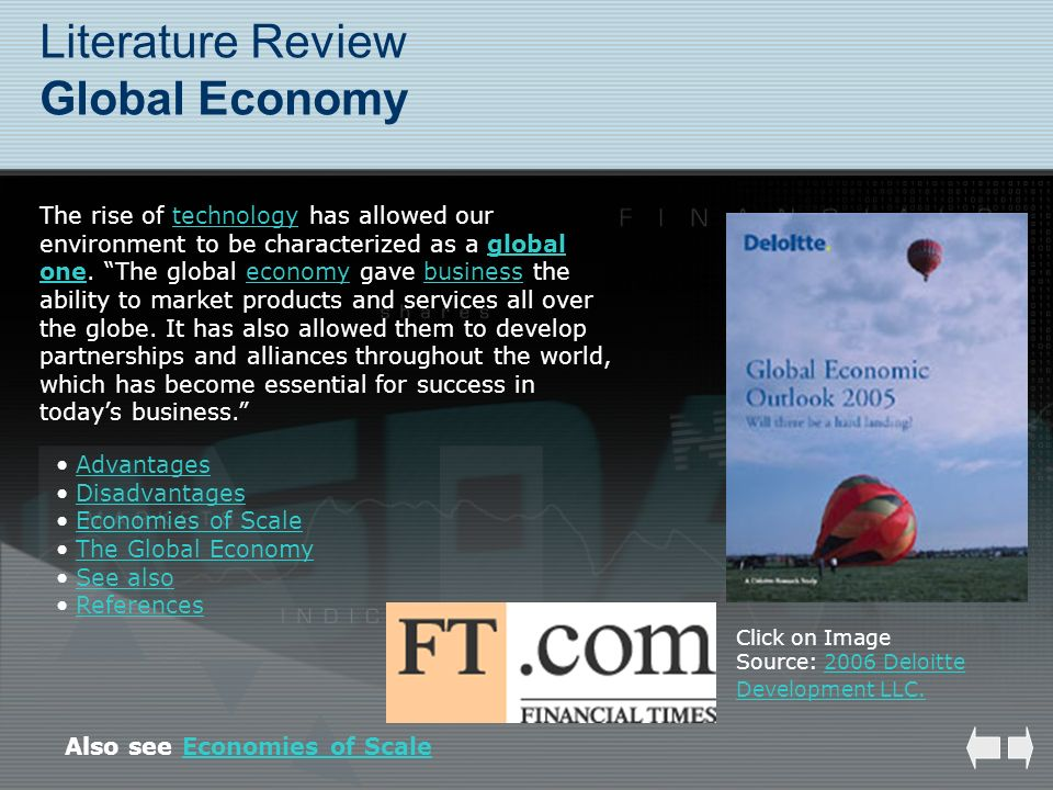 Literature Review Global Economy