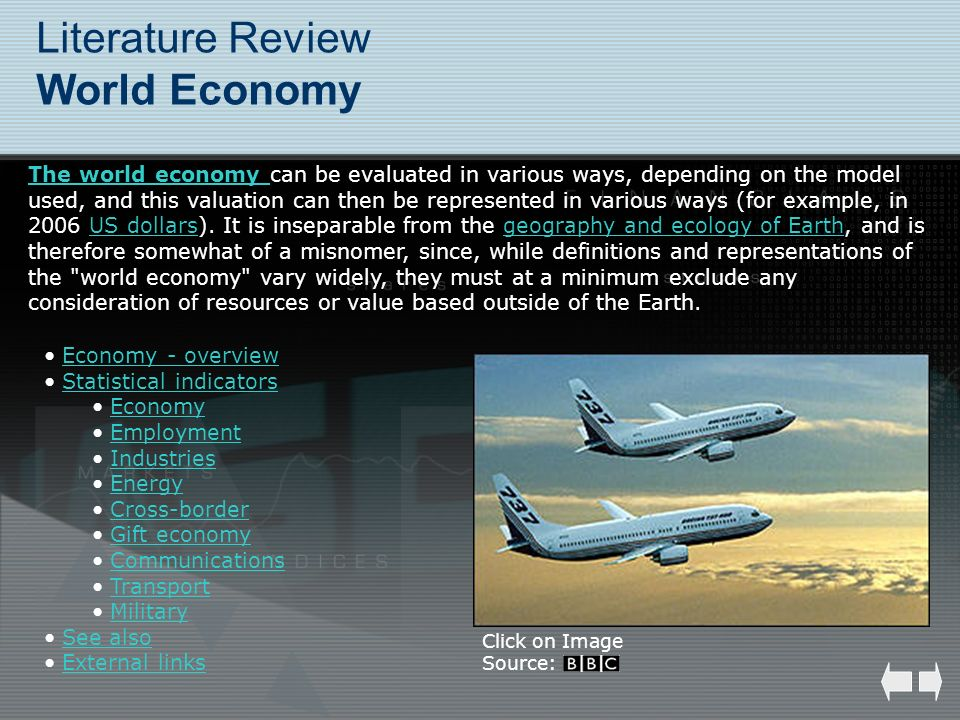 Literature Review World Economy
