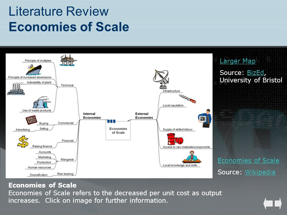 Literature Review Economies of Scale