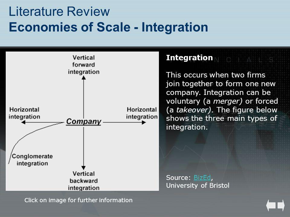 Literature Review Economies of Scale - Integration