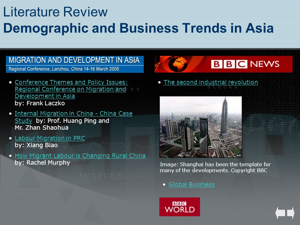 Literature Review Demographic and Business Trends in Asia