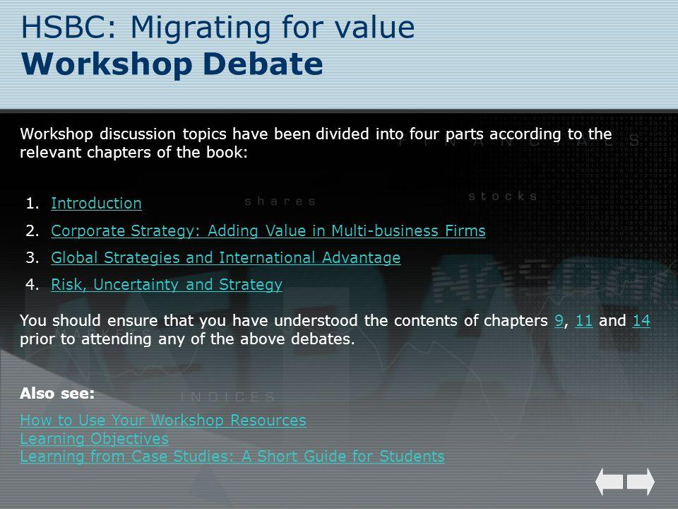 HSBC: Migrating for value Workshop Debate