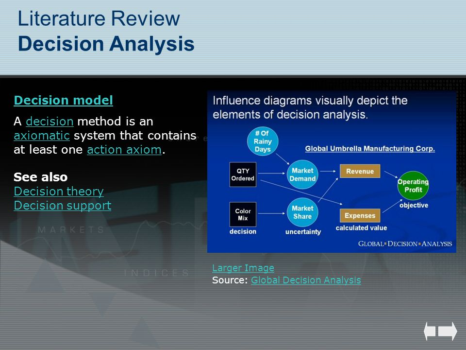 Literature Review Decision Analysis