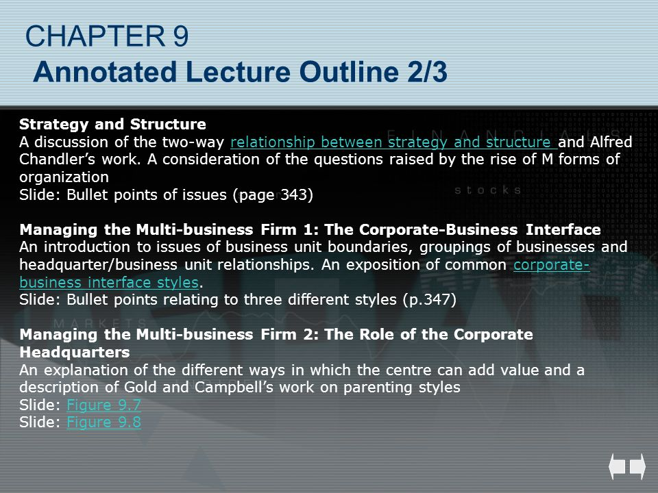 CHAPTER 9 Annotated Lecture Outline 2/3