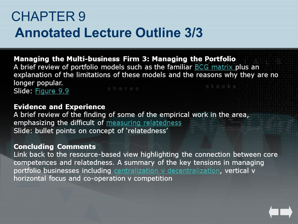 CHAPTER 9 Annotated Lecture Outline 3/3