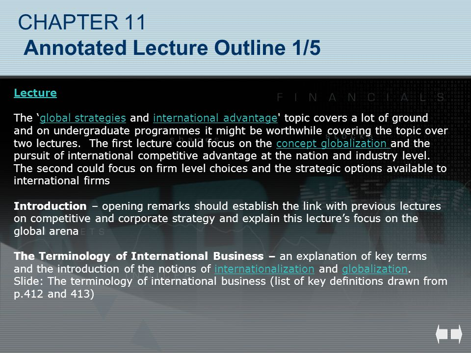 CHAPTER 11 Annotated Lecture Outline 1/5