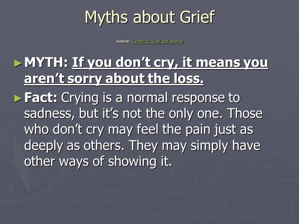 how to help 7 yo express grief when thry arent