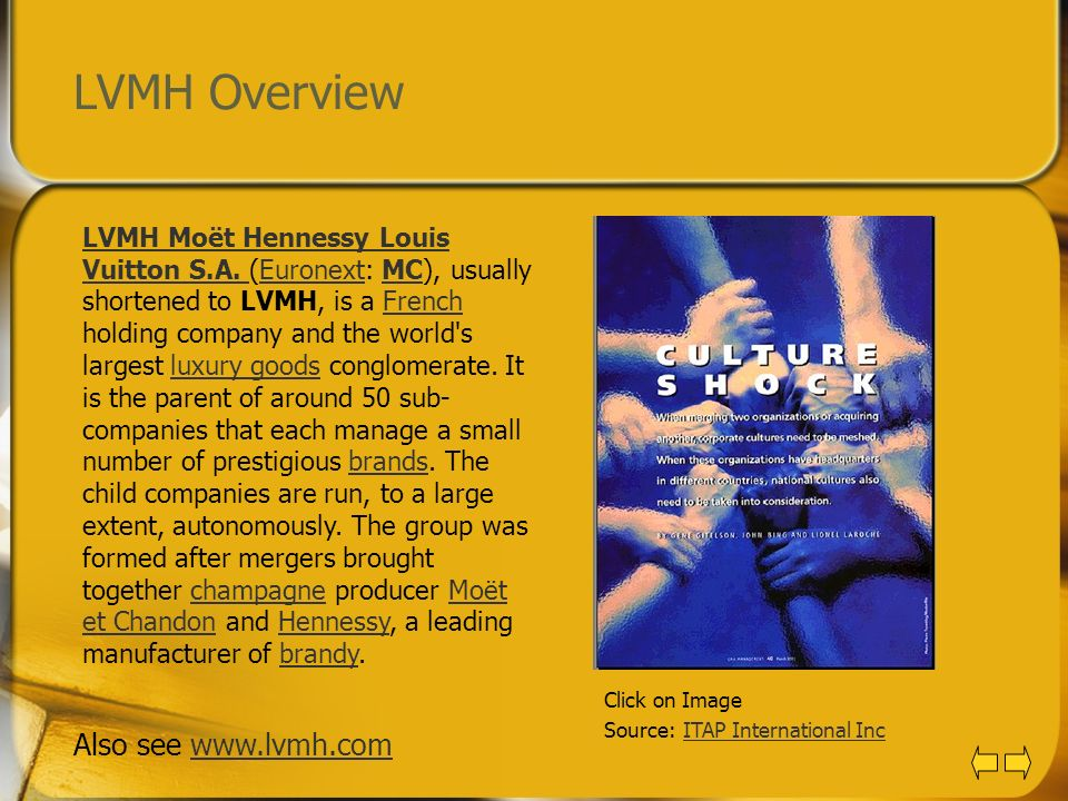 LVMH Overview Also see www.lvmh.com