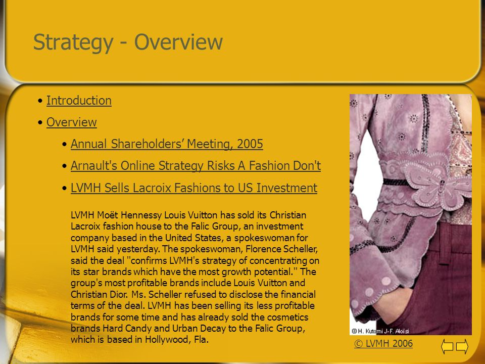 Strategy - Overview Introduction Overview