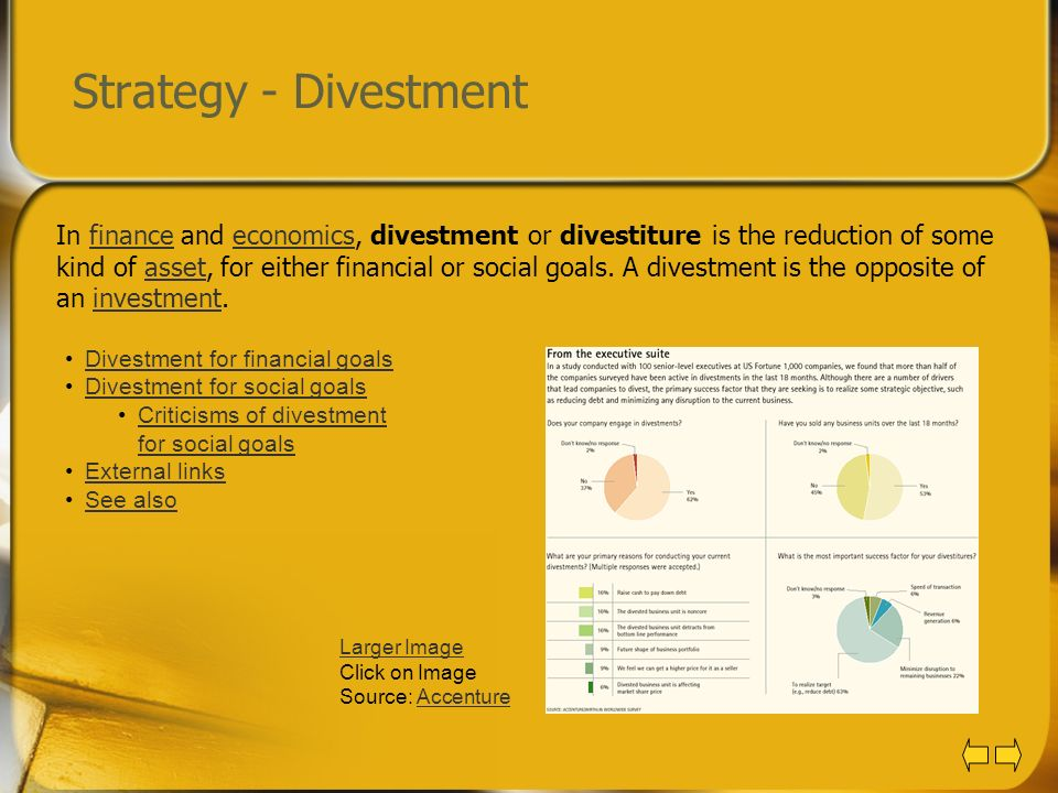 Strategy - Divestment