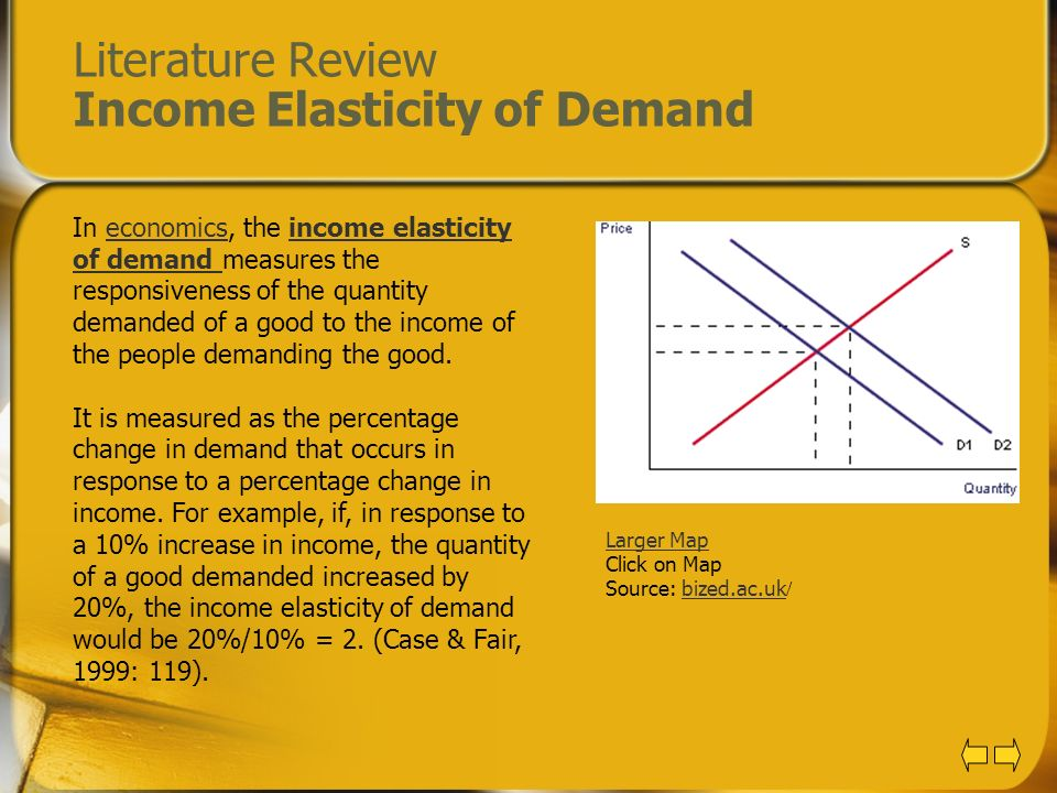 Literature Review Income Elasticity of Demand