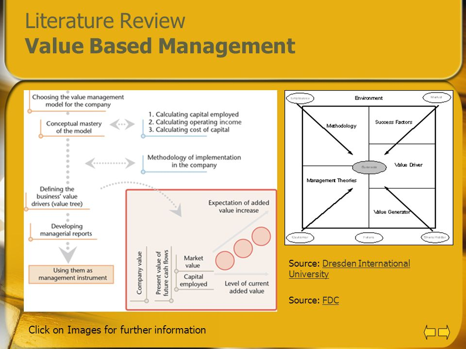 Literature Review Value Based Management