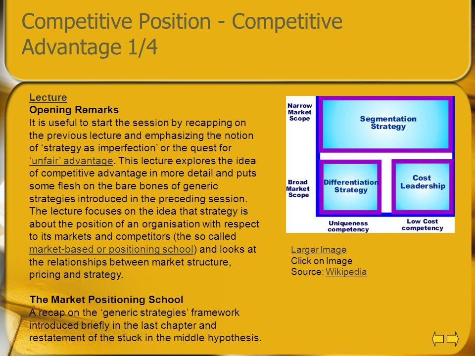 Competitive Position - Competitive Advantage 1/4