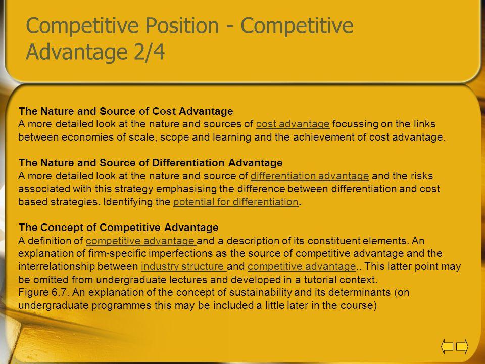 Competitive Position - Competitive Advantage 2/4
